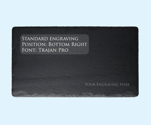 Standard text Engraving and Slate Purchase