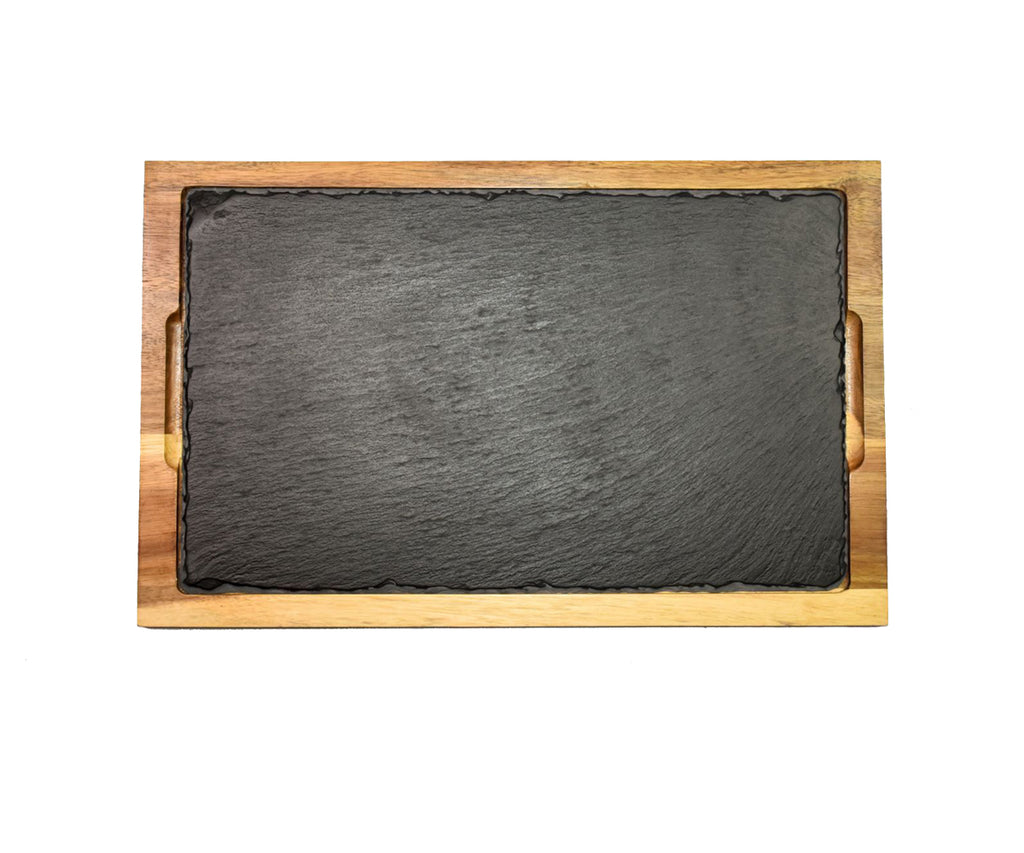 "12"" x 16"" Slate With Wood Frame"