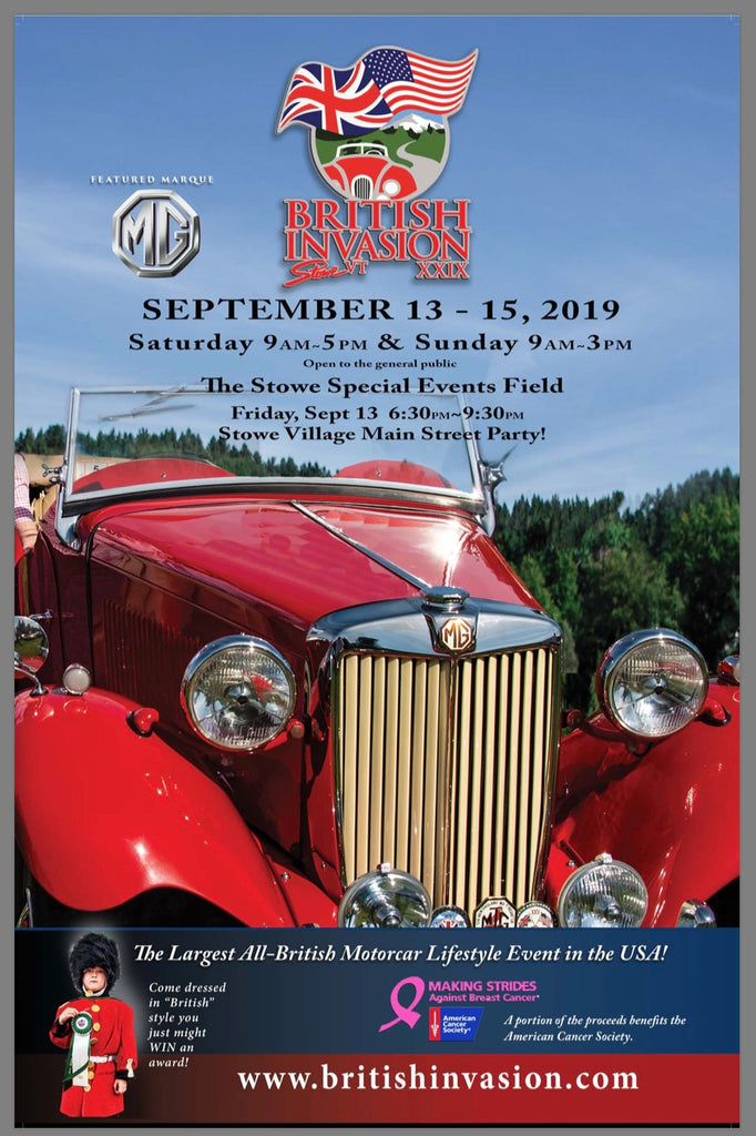 2019 British Invasion Car Show - Stowe, Vt.  (Sept. 13th-15th)
