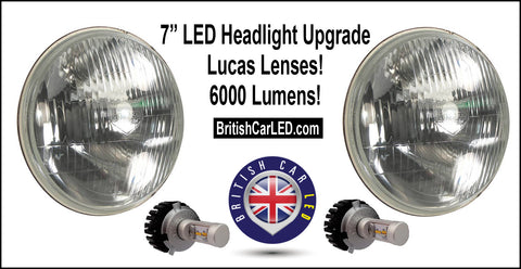 "NEW PRODUCT - 7"" Lucas Headlight LED Conversion Kit"