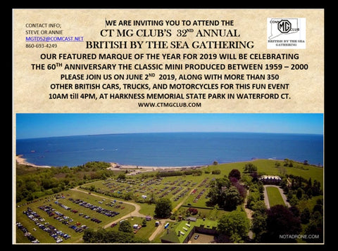 Sunday, June 2nd, 2019 - British By The Sea Car Show - Waterford, CT