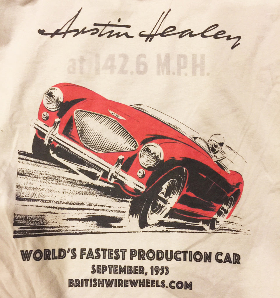 New T Shirt honoring the Speed Records of Donald Healey at the Bonneville Salt Flats