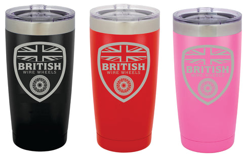 Insulated Travel Mug - 20oz. Stainless Steel Polar Camel Tumbler British Wire Wheels