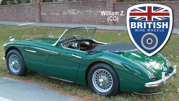 Moss Motors Dayton Dunlop MWS Austin Healey 15x4.5 60 Spoke painted TUBELESS British Wire Wheels
