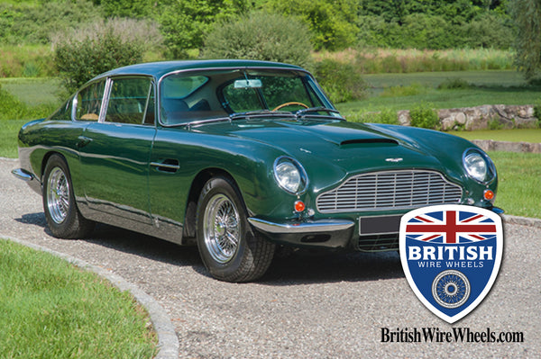 Aston Martin DB6 center lace wire wheels British wire wheels