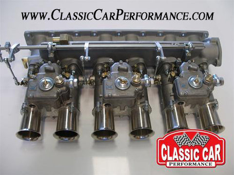Jaguar xke etype 45 doce Weber triple carb kit