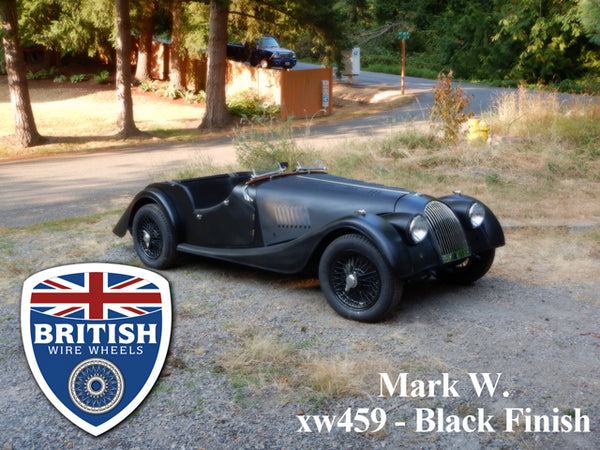 Dayton Dunlop MWS Wire Wheel Austin Healey MG Morgan Daimler TVR 15x 5 72 Spoke TUBELESS British Wire Wheels moss motors
