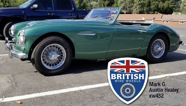 "Austin Healey / MG / Morgan / Triumph - 15""x 4.5""  60 Spoke  Chrome & TUBELESS"