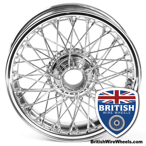 Dayton Dunlop MWS Austin Healey MG Morgan Triumph 15x4.5 60 Spoke Chrome TUBELESS British Wire Wheels Moss motors
