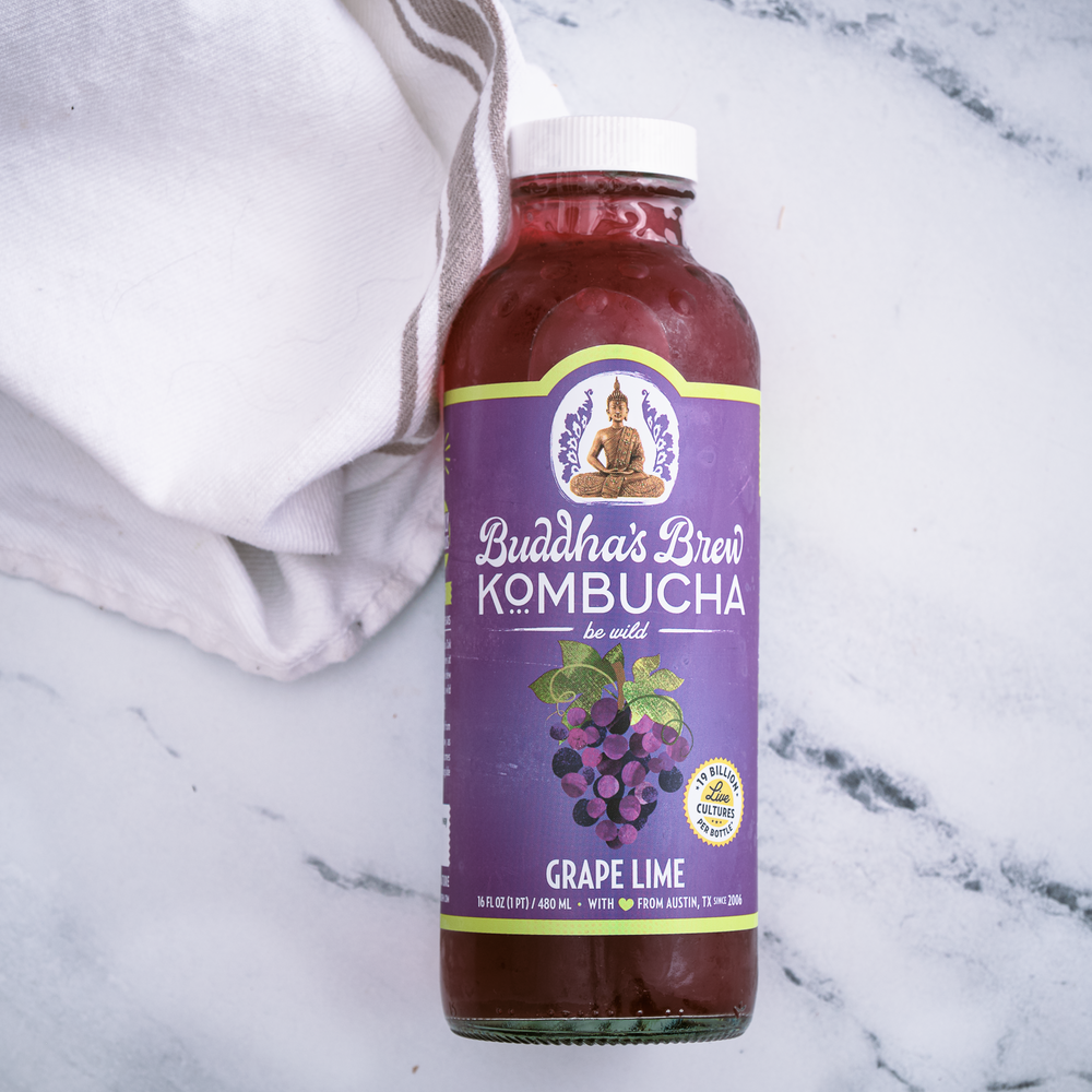 Grape Lime Kombucha