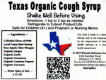 Texas Organic Cough Syrup