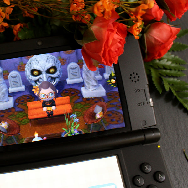 I updated my Animal Crossing New Leaf town for Halloween!