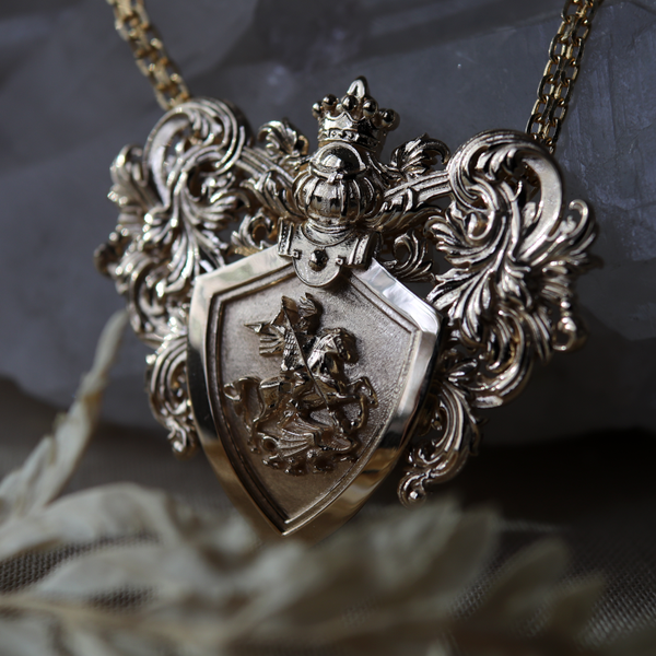 Coat of Arms Necklace Sample