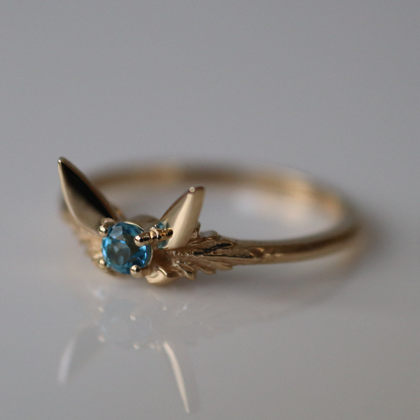 Fairy Companion Ring, Blue Topaz