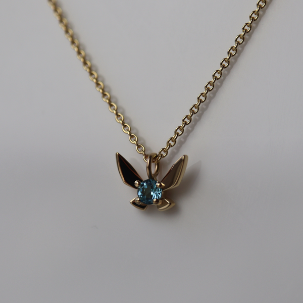 Fairy Companion Necklace, Blue Topaz