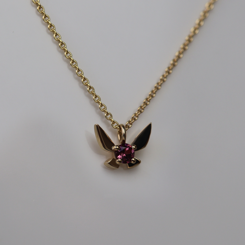 Fairy Companion Necklace, Garnet