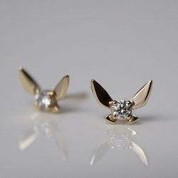 Fairy Companion Studs, Diamond