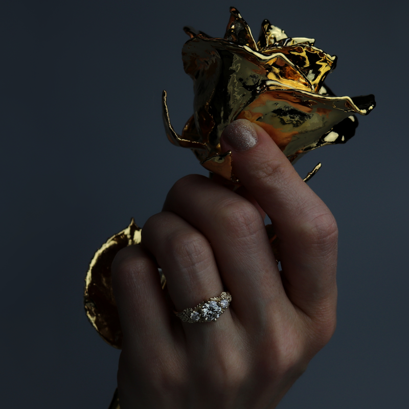 Custom Golden Garden Ring