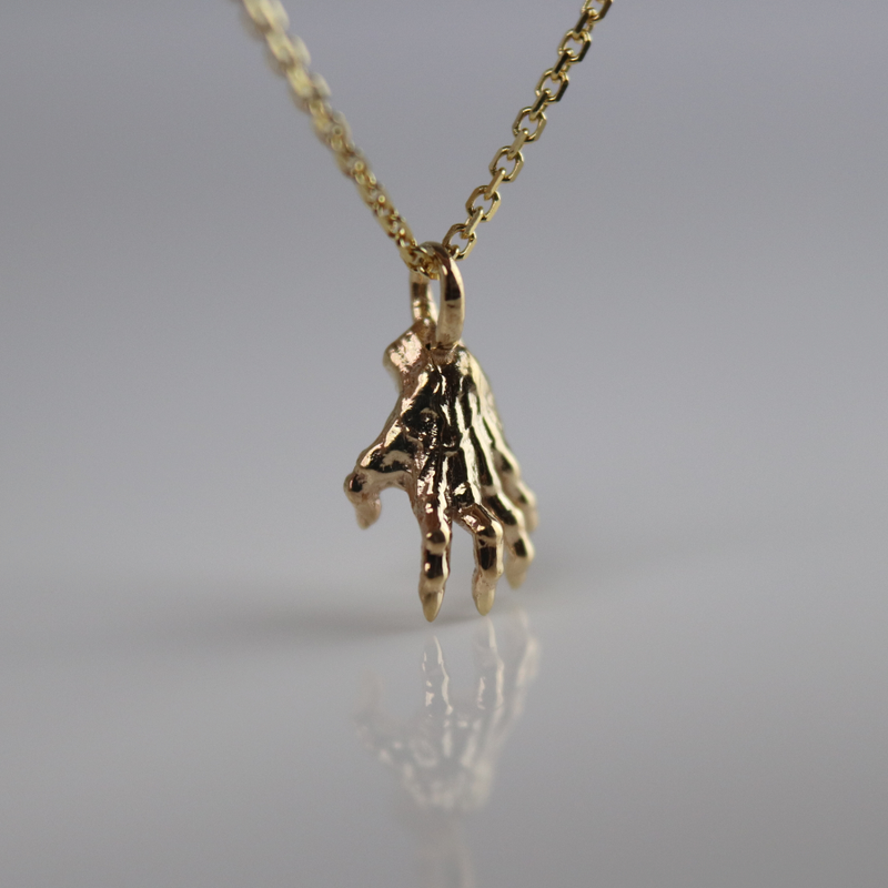 Shadow Hand Necklace
