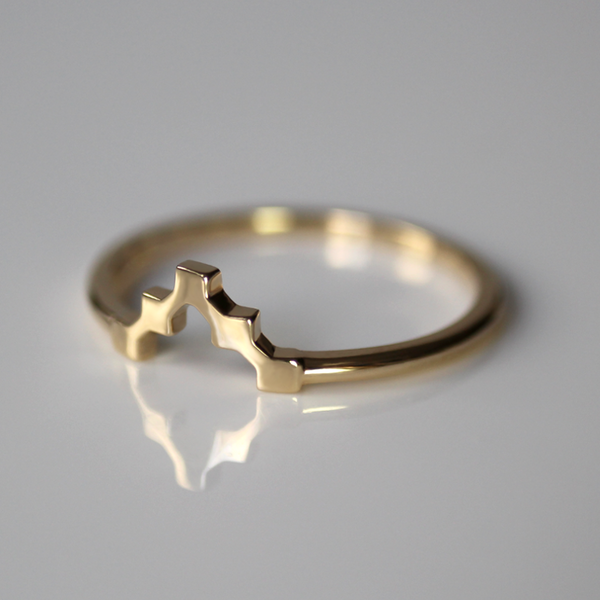 Pixel Arrow Ring