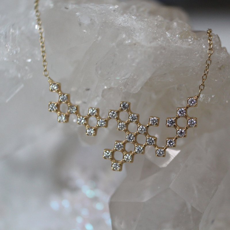Pixel Constellation Necklace, Large Test Sample