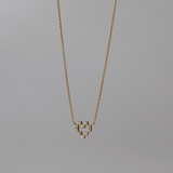 Pixel Heart Necklace, Diamond