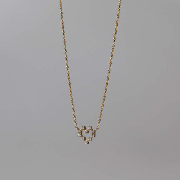 Pixel Heart Necklace of Light