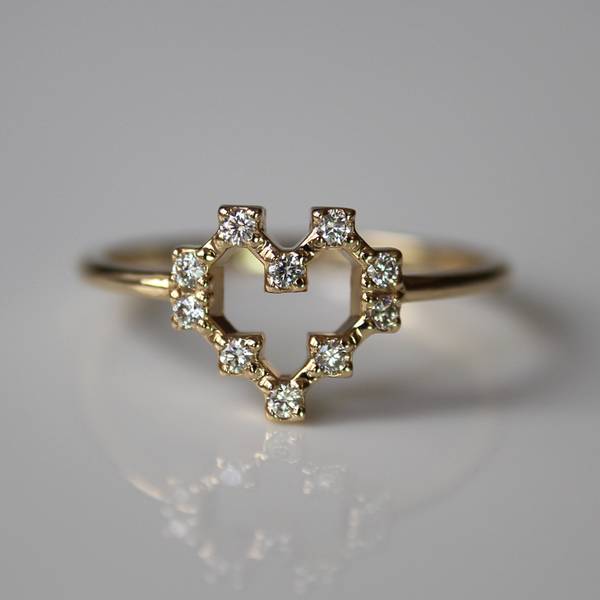 Pixel Heart Ring of Light