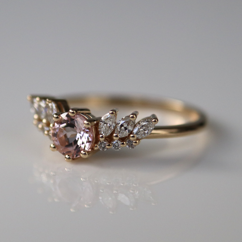 Pretty Guardian Ring, Morganite
