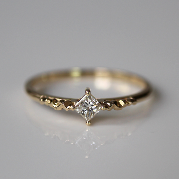 Princess Cut Ring of Light