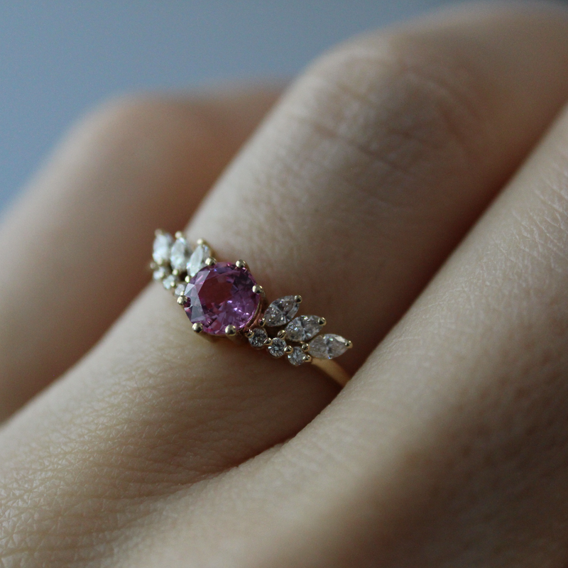 Pretty Guardian Ring, Pink Sapphire