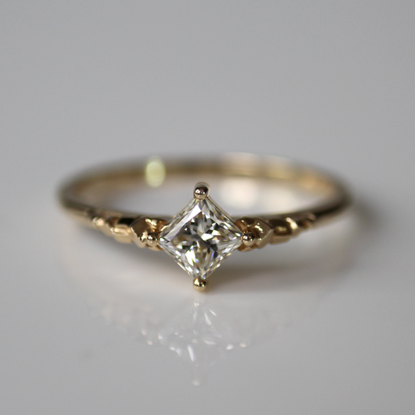 Super Princess Cut Ring of Light
