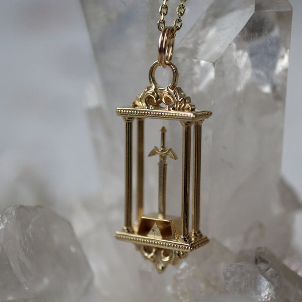 Sword in the Stone Pendant Necklace Test Sample
