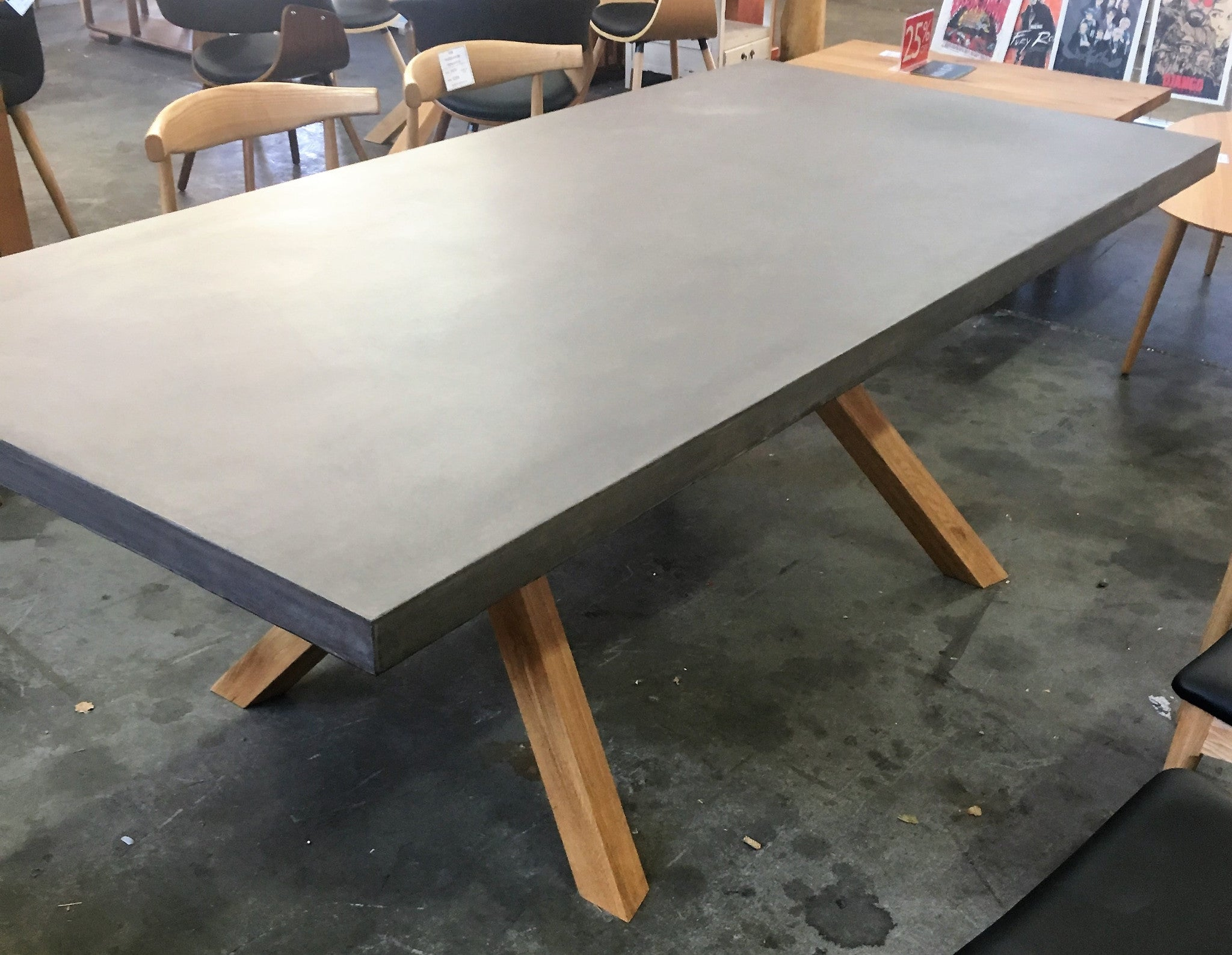 Venice concrete dining table
