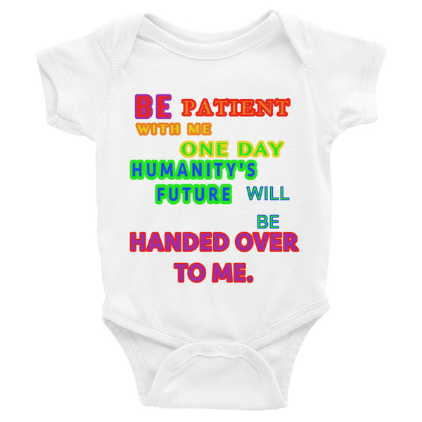 IT'S OUR FUTURE Infant short sleeve one-piece