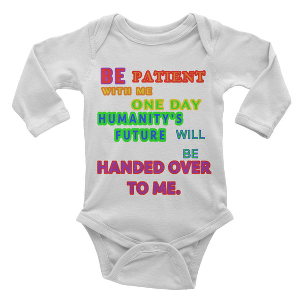 IT'S OUR FUTURE Infant long sleeve one-piece