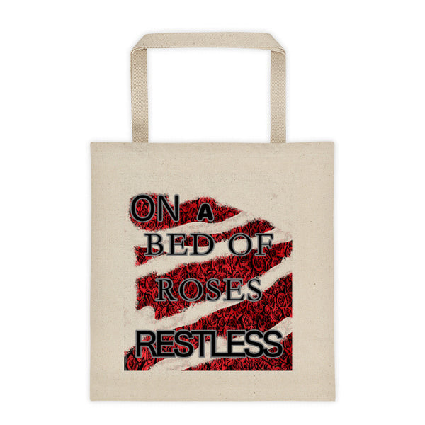 ON A BED OF ROSES RESTLESS Tote bag