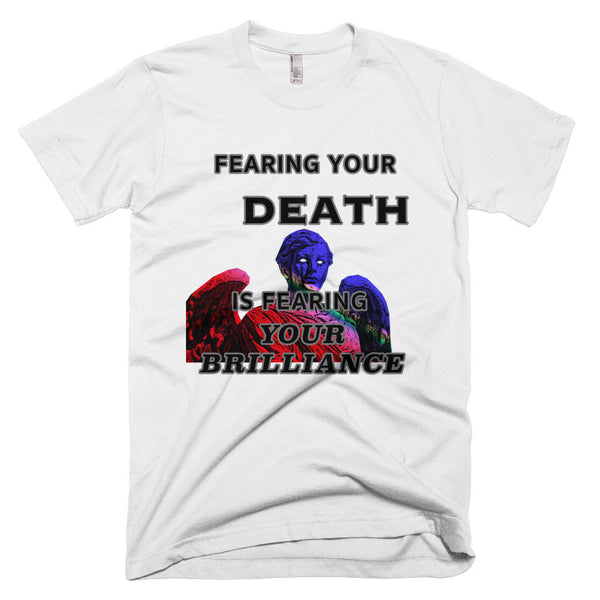 FEARING YOUR AUTHENTIC SELF Short sleeve men's t-shirt