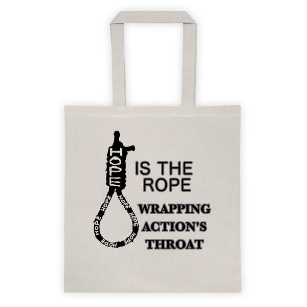 HOPE IS FOR FOOLS Tote bag