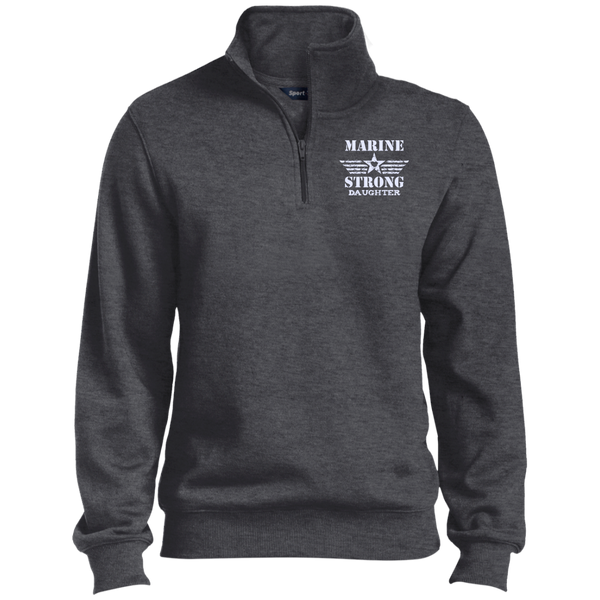 Marine Daughter Quarter-Zip Embroidered Sweatshirt