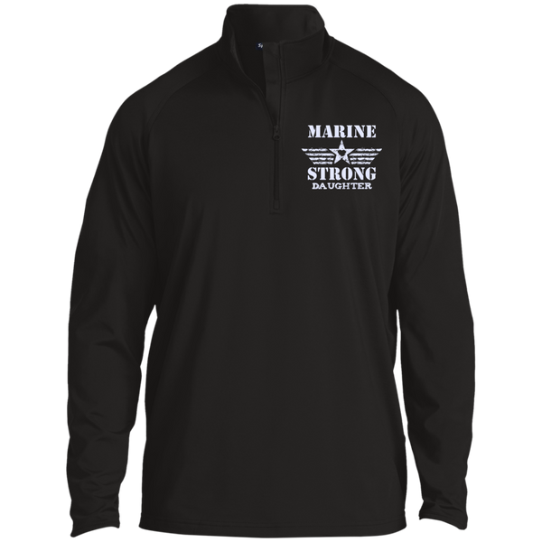 Marine Daughter Half Zip Raglan Performance Pullover