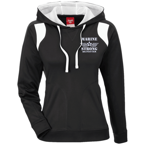 Marine Daughter Team 365 Ladies' Colorblock Poly Hoodie
