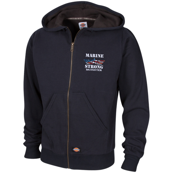 Marine Daughter Embroidered Thermal Fleece Hoodie