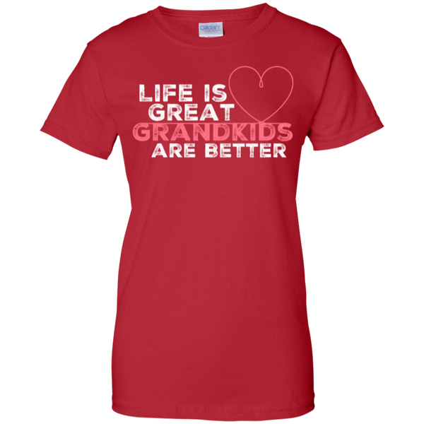 Grandma T Shirts Grandkids Are Better 100% Cotton