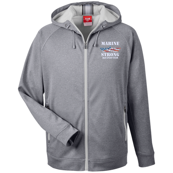 Marine Daughter Team 365 Men's Heathered Performance Hooded Jacket