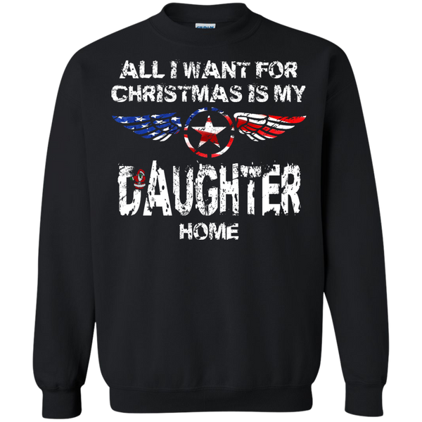 Christmas Daughter Printed Crewneck Pullover Sweatshirt  8 oz