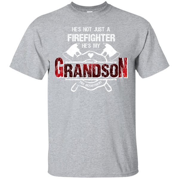 Firefighter Grandson Custom Ultra Cotton T-Shirt