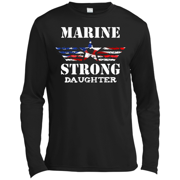 Marine Daughter Long Sleeve Moisture Absorbing Shirt