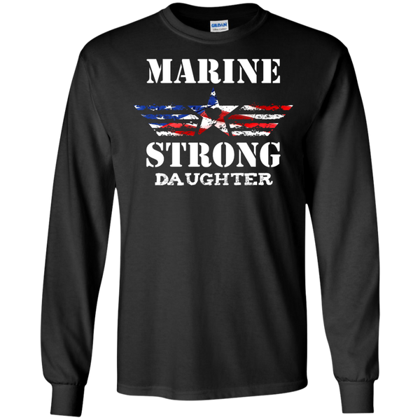 Marine Strong Daughter LS Ultra Cotton Tshirt