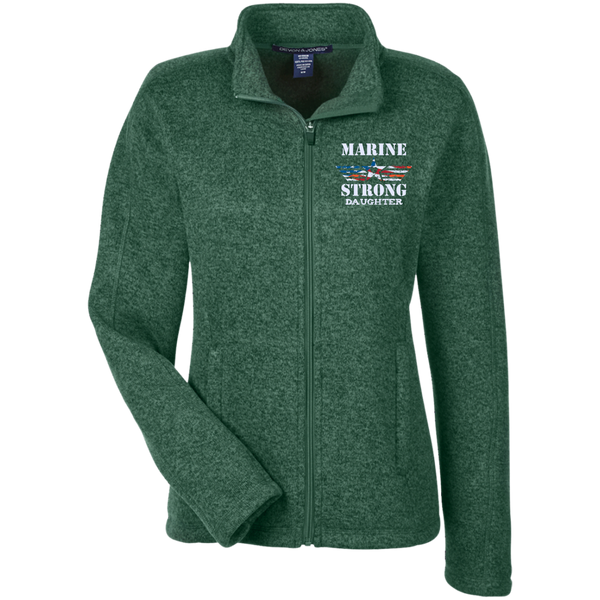 Marine Daughter Ladies Full Zip Sweater Fleece